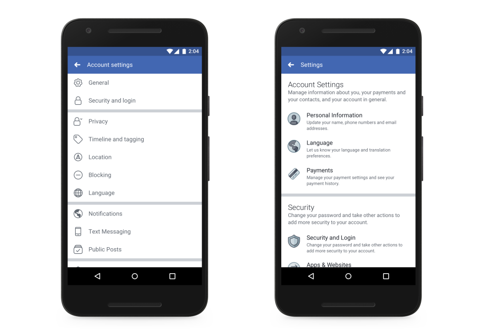 New Privacy Settings for Facebook Mobile